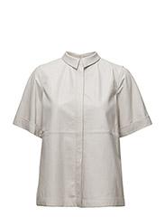 Skyla A-line Shirt - WHITE