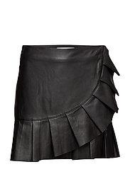 Clarice Ruffle Skirt - BLACK