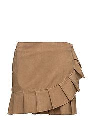 Clarice Ruffle Skirt - TAN