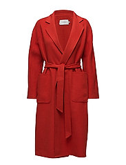 Claudine Coat - LIPSTICK RED