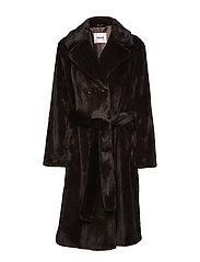 Faustine Coat - DK BROWN