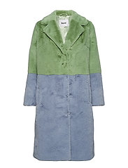 Maribel Coat - MINT GREEN/AQUA BLUE