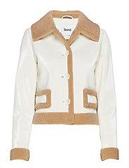 Rakel Jacket - TAUPE/OFF WHITE