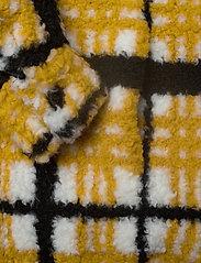 Stand Studio - Sabi Jacket - sztuczne futro - yellow/black/white check - 4