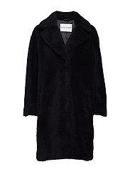 Camille Cocoon Coat - BLACK