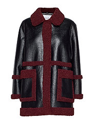Haley Jacket - BLACK/BURGUNDY