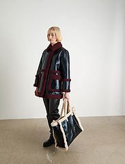 Stand Studio - Haley Jacket - kappor - black/burgundy - 0