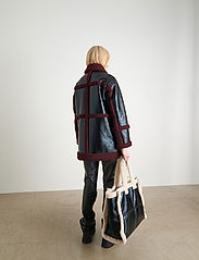Stand Studio - Haley Jacket - kappor - black/burgundy - 3