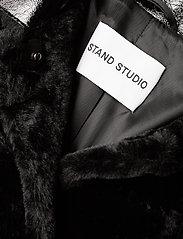 Stand Studio - Pamella Coat - faux fur - black - 4