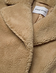 Stand Studio - Camille Cocoon Coat - faux fur - beige - 2
