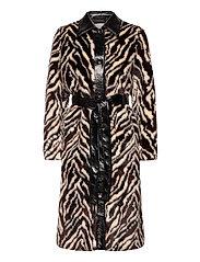 Aurora Coat - BLACK/WHITE