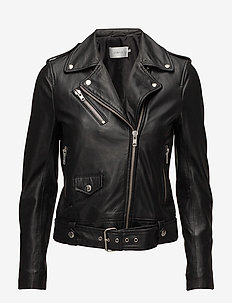 Polly Biker - leather jackets - black