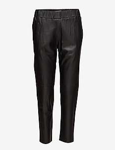 Noni Joggers II - leather trousers - black
