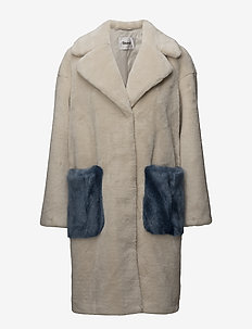 Camille Coocon Coat - PEARL SAND