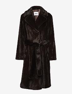 Faustine Coat - faux fur - dk brown