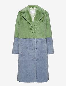 Maribel Coat - MINT GREEN/AQUA BLUE