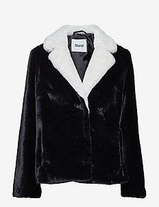 Mariska Jacket - faux fur - black/offwhite
