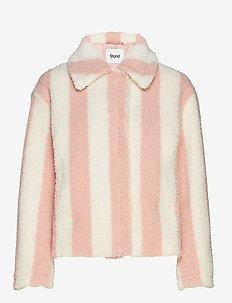 Marthe Jacket - faux fur - powder pink/off white