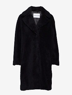 Camille Cocoon Coat - BLACK