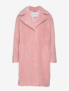 Camille Cocoon Coat - tekoturkit - light pink