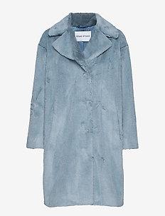Camille Cocoon Coat - tekoturkit - steel blue