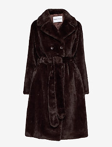 Faustine Coat - fuskpäls - brown