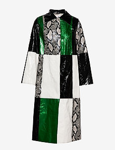 Nino Coat - SNAKE/GREEN/WHITE