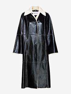 Nino Coat - coats - black/white