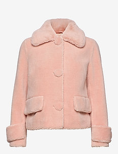 Regina Jacket - faux fur - seashell pink