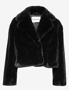 Janet Jacket - faux fur - black