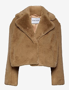 Janet Jacket - faux fur - camel