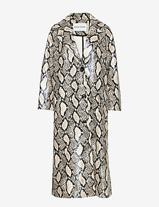 Mollie Coat - coats - beige snake