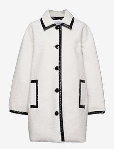 Jacey Jacket - wool coats - white/black
