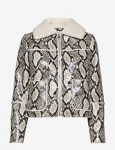 Maj Jacket - bomber jacks - natural snake