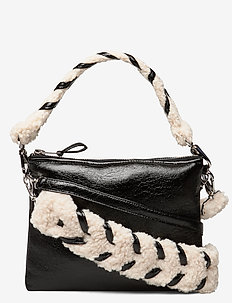 Luna Bag Patent - skuldertasker - black/white