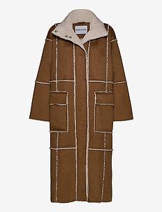 Aria Coat - ullkåper - brown/off white