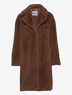 Camille Cocoon Coat - fuskepels - taupe