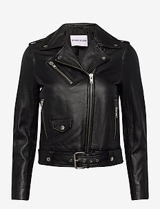Polly Biker - lederjacken - black