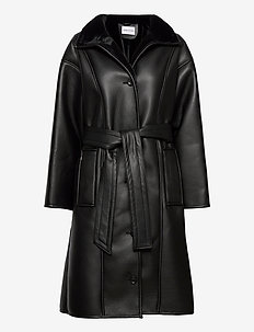 Krista Coat - leather jackets - black/black