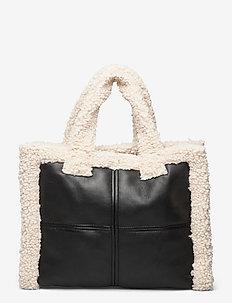 Lolita Shearling Bag - shoppers - black/off white