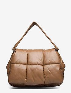 Wanda Clutch Bag - top handle - taupe