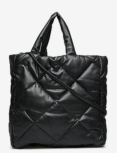 Assante Diamond Bag - top handle - black
