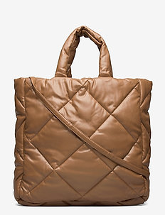 Assante Diamond Bag - top handle - taupe10600