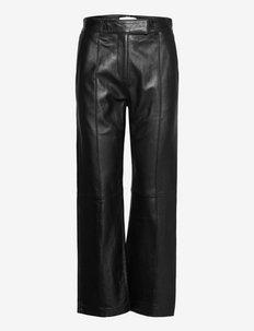 Mariam Pants - lederhosen - black