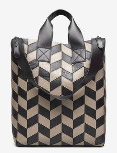 Amia Ziczac Bag - cabas - black/sandstone beige