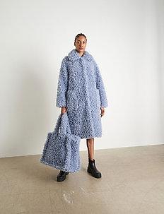 Taylor Coat - faux fur - topaz blue