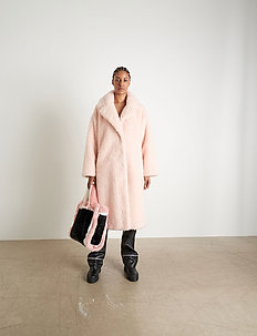 Clara Coat - faux fur - soft pink