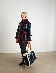 Haley Jacket - coats - black/burgundy