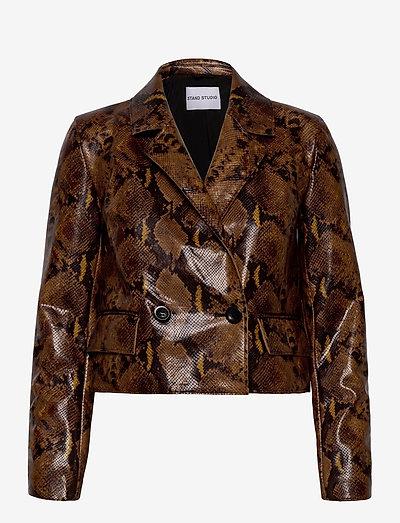 Lucia Blazer - casual blazers - brown