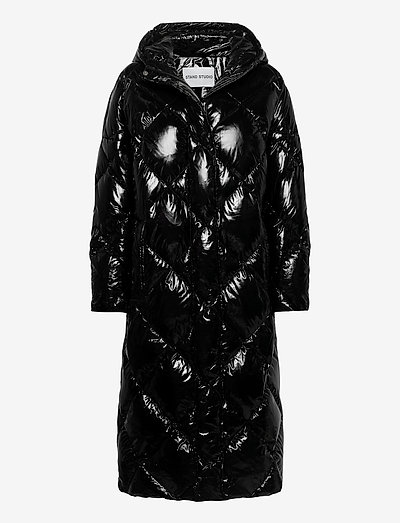 Farrah Coat - padded coats - black